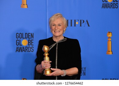 LOS ANGELES, CA. January 06, 2019: Glenn Close at the 2019 Golden Globe Awards at the Beverly Hilton Hotel.Picture: Paul Smith/Featureflash