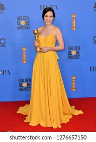 LOS ANGELES, CA. January 06, 2019: Rachel Brosnahan at the 2019 Golden Globe Awards at the Beverly Hilton Hotel.