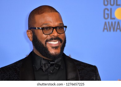 LOS ANGELES, CA. January 06, 2019: Tyler Perry at the 2019 Golden Globe Awards at the Beverly Hilton Hotel.