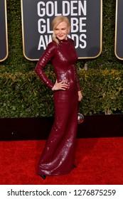 LOS ANGELES, CA. January 06, 2019: Nicole Kidman at the 2019 Golden Globe Awards at the Beverly Hilton Hotel.