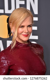 LOS ANGELES, CA. January 06, 2019: Nicole Kidman at the 2019 Golden Globe Awards at the Beverly Hilton Hotel.