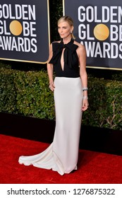 LOS ANGELES, CA. January 06, 2019: Charlize Theron at the 2019 Golden Globe Awards at the Beverly Hilton Hotel.
