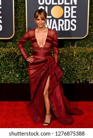 LOS ANGELES, CA. January 06, 2019: Halle Berry at the 2019 Golden Globe Awards at the Beverly Hilton Hotel.