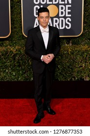 LOS ANGELES, CA. January 06, 2019: Rami Malek at the 2019 Golden Globe Awards at the Beverly Hilton Hotel.