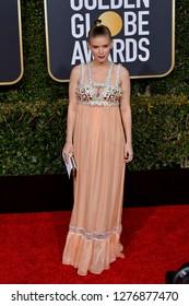 LOS ANGELES, CA. January 06, 2019: Kate Mara at the 2019 Golden Globe Awards at the Beverly Hilton Hotel.