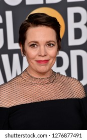 LOS ANGELES, CA. January 06, 2019: Olivia Colman at the 2019 Golden Globe Awards at the Beverly Hilton Hotel.