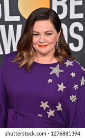 LOS ANGELES, CA. January 06, 2019: Melissa McCarthy at the 2019 Golden Globe Awards at the Beverly Hilton Hotel.