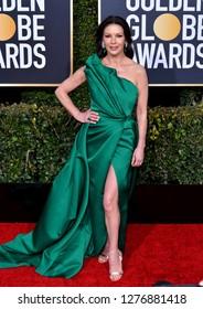 LOS ANGELES, CA. January 06, 2019: Catherine Zeta-Jones at the 2019 Golden Globe Awards at the Beverly Hilton Hotel.