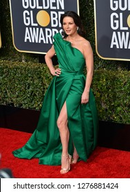 LOS ANGELES, CA. January 06, 2019: Catherine Zeta-Jones at the 2019 Golden Globe Awards at the Beverly Hilton Hotel.Picture: Paul Smith/Featureflash