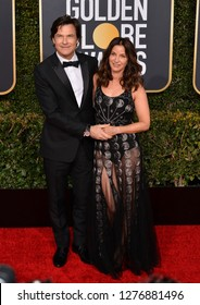 LOS ANGELES, CA. January 06, 2019: Jason Bateman & Amanda Anka at the 2019 Golden Globe Awards at the Beverly Hilton Hotel.Picture: Paul Smith/Featureflash