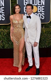 LOS ANGELES, CA. January 06, 2019: Bradley Cooper & Irina Shayk at the 2019 Golden Globe Awards at the Beverly Hilton Hotel.