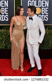 LOS ANGELES, CA. January 06, 2019: Bradley Cooper & Irina Shayk at the 2019 Golden Globe Awards at the Beverly Hilton Hotel.Picture: Paul Smith/Featureflash