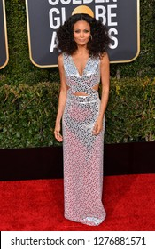 LOS ANGELES, CA. January 06, 2019: Thandie Newton at the 2019 Golden Globe Awards at the Beverly Hilton Hotel.