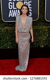 LOS ANGELES, CA. January 06, 2019: Keri Russell at the 2019 Golden Globe Awards at the Beverly Hilton Hotel.