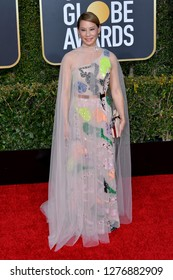 LOS ANGELES, CA. January 06, 2019: Lucy Liu at the 2019 Golden Globe Awards at the Beverly Hilton Hotel.