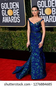 LOS ANGELES, CA. January 06, 2019: Camilla Belle at the 2019 Golden Globe Awards at the Beverly Hilton Hotel.
