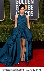 LOS ANGELES, CA. January 06, 2019: Gemma Chan at the 2019 Golden Globe Awards at the Beverly Hilton Hotel.