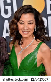LOS ANGELES, CA. January 06, 2019: Michelle Yeoh at the 2019 Golden Globe Awards at the Beverly Hilton Hotel.