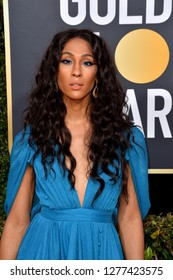 LOS ANGELES, CA. January 06, 2019: Mj Rodriguez at the 2019 Golden Globe Awards at the Beverly Hilton Hotel.