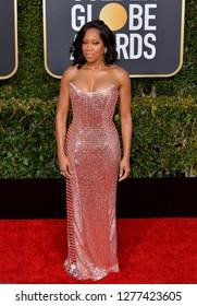 LOS ANGELES, CA. January 06, 2019: Regina King at the 2019 Golden Globe Awards at the Beverly Hilton Hotel.