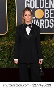 LOS ANGELES, CA. January 06, 2019: Judy Greer at the 2019 Golden Globe Awards at the Beverly Hilton Hotel.