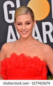 LOS ANGELES, CA. January 06, 2019: Lili Reinhart at the 2019 Golden Globe Awards at the Beverly Hilton Hotel.