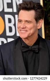 LOS ANGELES, CA. January 06, 2019: Jim Carrey at the 2019 Golden Globe Awards at the Beverly Hilton Hotel.