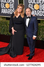 LOS ANGELES, CA. January 06, 2019: Caroline Aaron & Kevin Pollak  at the 2019 Golden Globe Awards at the Beverly Hilton Hotel.