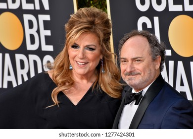 LOS ANGELES, CA. January 06, 2019: Caroline Aaron & Kevin Pollak  at the 2019 Golden Globe Awards at the Beverly Hilton Hotel.Picture: Paul Smith/Featureflash