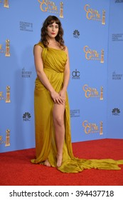 LOS ANGELES, CA - JANUARY 10, 2016: Lola Kirke at the 73rd Annual Golden Globe Awards at the Beverly Hilton Hotel.