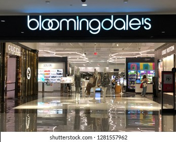 Los Angeles, CA: January 11, 2019: Exterior of a Bloomingdale's department store. Bloomingdale's was founded in 1861