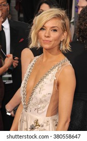 LOS ANGELES, CA - JANUARY 11, 2015: Sienna Miller at the 72nd Annual Golden Globe Awards at the Beverly Hilton Hotel, Beverly Hills.