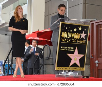 LOS ANGELES, CA - JANUARY 11, 2017: Amy Adams & Jeremy Renner at Hollywood Walk of Fame Star Ceremony honoring actress Amy Adams.