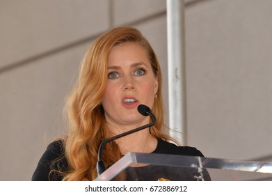 LOS ANGELES, CA - JANUARY 11, 2017: Amy Adams at Hollywood Walk of Fame Star Ceremony honoring actress Amy Adams.