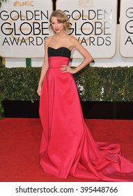 LOS ANGELES, CA - JANUARY 12, 2014: Taylor Swift at the 71st Annual Golden Globe Awards at the Beverly Hilton Hotel.