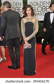 LOS ANGELES, CA - JANUARY 12, 2014: Lizzy Caplan at the 71st Annual Golden Globe Awards at the Beverly Hilton Hotel.