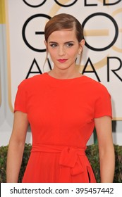 LOS ANGELES, CA - JANUARY 12, 2014: Emma Watson at the 71st Annual Golden Globe Awards at the Beverly Hilton Hotel.