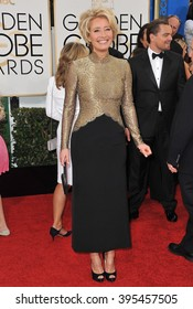 LOS ANGELES, CA - JANUARY 12, 2014: Emma Thompson at the 71st Annual Golden Globe Awards at the Beverly Hilton Hotel.
