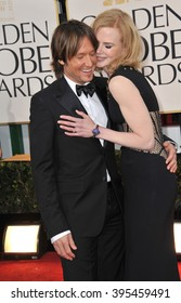 LOS ANGELES, CA - JANUARY 13, 2013: Keith Urban & NIcole Kidman at the 70th Golden Globe Awards at the Beverly Hilton Hotel.