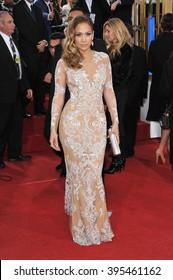 LOS ANGELES, CA - JANUARY 13, 2013: Jennifer Lopez at the 70th Golden Globe Awards at the Beverly Hilton Hotel.