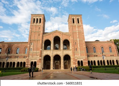 Los Angeles, CA:  January 13, 2017: A view of Royce Hall on the University of California, Los Angeles (UCLA) campus. Royce Hall was completed in 1929.