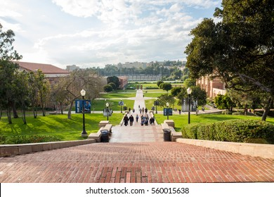 Los Angeles, CA: January 13, 2017: Janss Steps on the UCLA campus.  UCLA is a public university in the Los Angeles area.