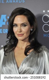 LOS ANGELES, CA - JANUARY 15, 2015: Angelina Jolie at the 20th Annual Critics' Choice Movie Awards at the Hollywood Palladium.