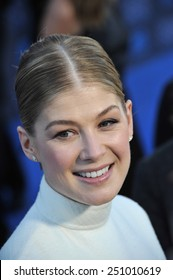 LOS ANGELES, CA - JANUARY 15, 2015: Rosamund Pike at the 20th Annual Critics' Choice Movie Awards at the Hollywood Palladium.