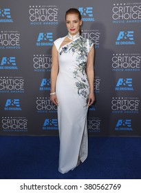 LOS ANGELES, CA - JANUARY 15, 2015: Jessica Chastain at the 20th Annual Critics' Choice Movie Awards at the Hollywood Palladium.