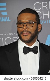 LOS ANGELES, CA - JANUARY 15, 2015: Tyler Perry at the 20th Annual Critics' Choice Movie Awards at the Hollywood Palladium.