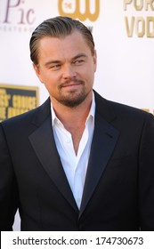 LOS ANGELES, CA - JANUARY 16, 2014: Leonardo DiCaprio at the 19th Annual Critics' Choice Awards at The Barker Hangar, Santa Monica Airport.