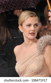 LOS ANGELES, CA - JANUARY 17, 2010: Drew Barrymore at the 67th Golden Globe Awards at the Beverly Hilton Hotel.