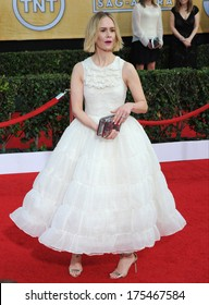 LOS ANGELES, CA - JANUARY 18, 2014: Sarah Paulson at the 20th Annual Screen Actors Guild Awards at the Shrine Auditorium.