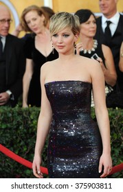 LOS ANGELES, CA - JANUARY 18, 2014: Jennifer Lawrence at the 20th Annual Screen Actors Guild Awards at the Shrine Auditorium.